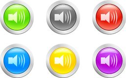 Sound button. [Vector] Royalty Free Stock Photos