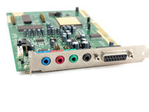 Sound card for computer Royalty Free Stock Photo