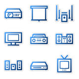 Sound and cinema icons Royalty Free Stock Photo