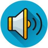 Sound circle blue icon concept 向量例证
