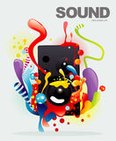 Sound color illustration Stock Photos