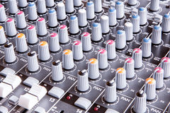 Sound Console Royalty Free Stock Photo