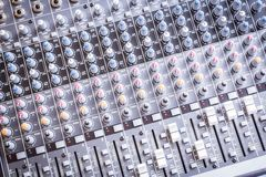 Sound Console Royalty Free Stock Image
