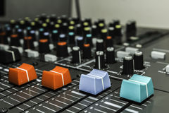 Sound control board Royalty Free Stock Images