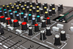 Sound control board Stock Photos