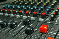 Sound control board Stock Image
