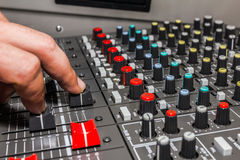 Sound control board Stock Images