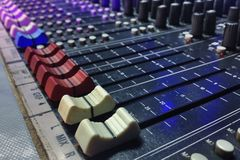 Sound control Stock Image