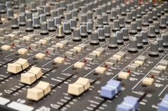 Sound control. Sound console in a recording studio royalty free stock images
