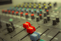 Sound control by DJ Royalty Free Stock Photo