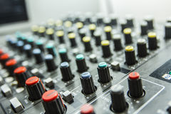 Sound control by DJ Royalty Free Stock Photos