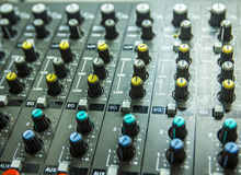 Sound control by DJ Royalty Free Stock Image