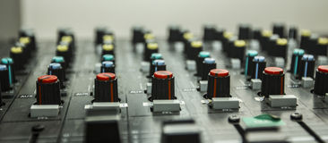 Sound control by DJ Stock Photo