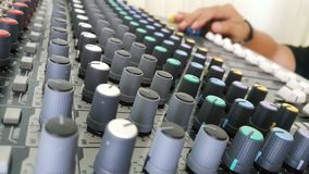 Sound control electronic technology. Sound mix and control Stock Photos