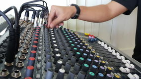 Sound control electronic technology. Sound mix and control Royalty Free Stock Image
