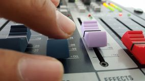 Sound control electronic technology. Sound mix and control Royalty Free Stock Photography
