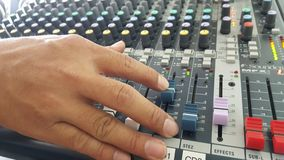Sound control electronic technology. Sound mix and control Royalty Free Stock Images