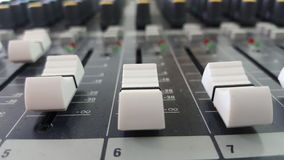 Sound control electronic technology. Sound mix and control Stock Images