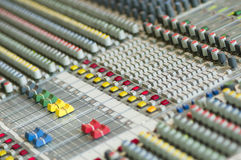 Sound control keyboard Stock Images