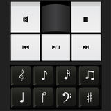 Sound control keyboard and music notes vector Royalty Free Stock Photography