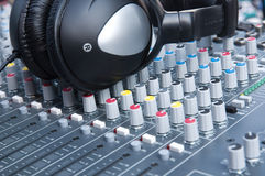 Sound control panel. Close up Royalty Free Stock Image