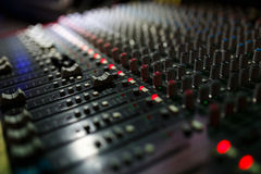 Sound control panel Royalty Free Stock Photos