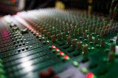 Sound control panel Royalty Free Stock Photo
