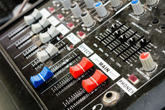 Sound Control. It is set to control the audio system Royalty Free Stock Photography