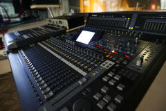 Sound control station Stock Photography
