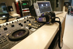 Sound control station Stock Photos