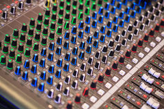 Sound controlebord Stock Fotografie