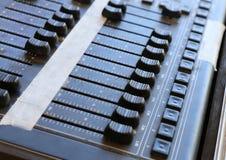 Sound controller, mixer board Royalty Free Stock Photography