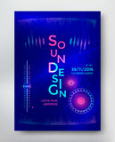 Sound Design poster Royalty Free Stock Photography