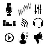 Sound design, vector illustration. Stock Photography
