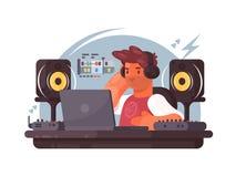 Sound designer on workplace Stock Photo