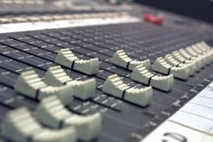 Sound Desk Royalty Free Stock Photo