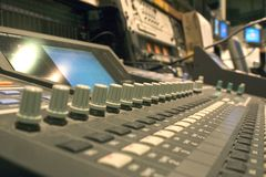 Sound Desk Stock Photo