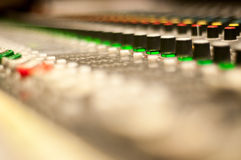 Sound desk colors Stock Image