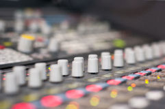 Sound desk detail Stock Photos