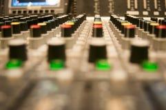 Sound desk details Stock Image