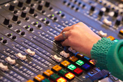 Sound Desk royalty free stock photos