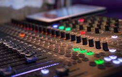 Sound digital mixer view at a concert Royalty Free Stock Photos