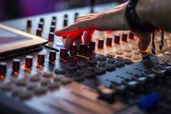 Sound digital mixer view at a concert Stock Image