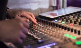 Sound digital mixer view at a concert Stock Photos