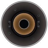 Sound dynamic loudspeaker Royalty Free Stock Images