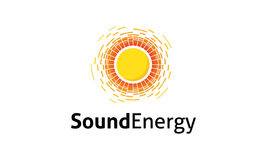 Sound Energy Logo. Minimalist and modern sound logo template. Simple work and adjusted to suit your needs Stock Image