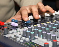 Sound engineer Royalty Free Stock Image