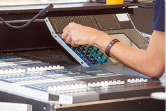 Sound engineer Royalty Free Stock Photo