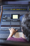Sound engineer working Stock Photos
