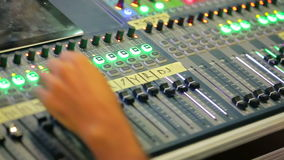 Sound Engineer Works With Sound Mixer stock footage